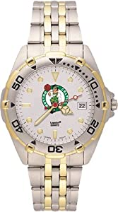 Boston Celtics Mens All Star Watch Stainless Steel Bracelet by Logo Art