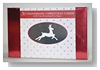 Handmade 30 Christmas Cards Set with Coordinating Envelopes