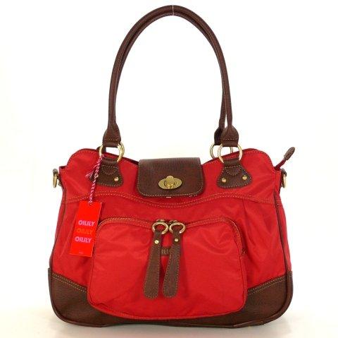 Oilily Carry All Rot OES0211-2000 Damen Handtasche Tasche Henkeltasche