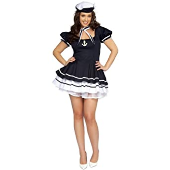 Amazon.com: Sailor Sweetie Costume - X-Large - Dress Size 10-12: Adult