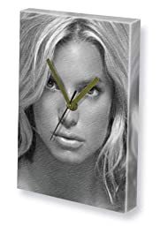 JESSICA SIMPSON - Canvas Clock (LARGE A3 - Signed by the Artist) #js001