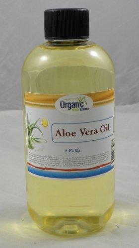 Certified Organic Aloe Vera Oil - 100% Pure 240 ml (8 Oz)