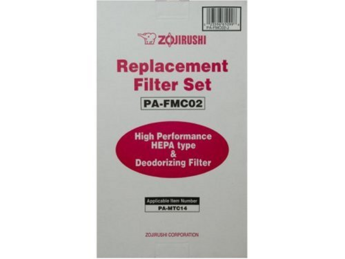 Zojirushi PA-FMC02 Replacement filter set which includes two replacement  filters and two deodorizing filters for the Zojirushi PA-MTC14 Ultra Slim  Air