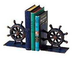 Midwest CBK Set of Cast Iron Ship Wheel Bookends