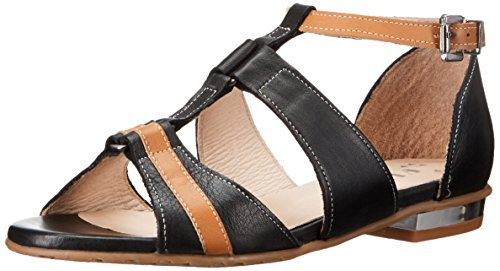 Fidji Women's V573 Dress Sandal, Black/Tan, 39 EU/9 M US (Fidji 39 compare prices)