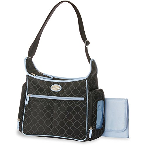 Baby Boom Places & Spaces Hobo Diaper Bag. Insulated side pocket to keep bottles & more warm or cool. Has Bottle holder loops. Easy access wipes dispenser. Ideal travel bag When Travelling With Baby!