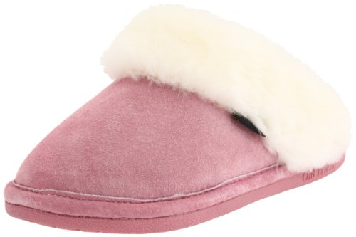 Cheap Old Friend Women's Ladies Scuff,Pink With Natural Fleece,Medium (6.5-7.5 M US) (Ladies Scuff Pink)