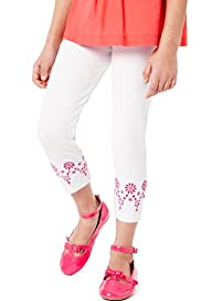 Autograph Cotton Rich Floral Embellished Cuff Leggings