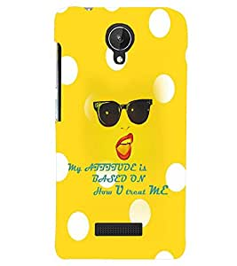 PRINTSWAG ATTITUDE QUOTE Designer Back Cover Case for MICROMAX CANVAS SPARK Q380
