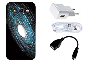 Spygen Samsung Galaxy J7 (2015) Case Combo of Premium Quality Designer Printed 3D Lightweight Slim Matte Finish Hard Case Back Cover + Charger Adapter + High Speed Data Cable + Premium Quality OTG