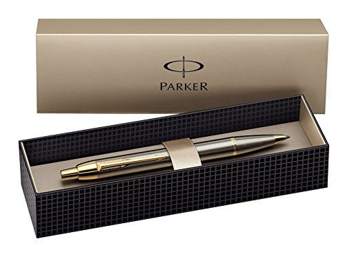 parker-s0856480-stylo-bille-im-premium-pointe-moyenne-metal-brosse-avec-attributs-plaques-or