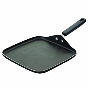 Farberware 20442 Aluminum Nonstick Square Meal Griddle, 11-Inch, Gray