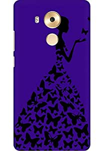 AMEZ designer printed 3d premium high quality back case cover for Huawei Mate 8 (violet lady princess)