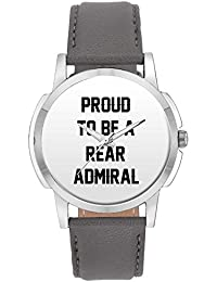 Wrist Watch For Men - Proud To Be A Rear Admiral Best Gift For REAR ADMIRAL - Analog Men's And Boy's Unique Quartz...