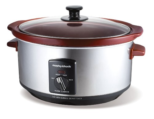 Morphy Richards Burgundy Slow Cooker 3.5Litre 48720
