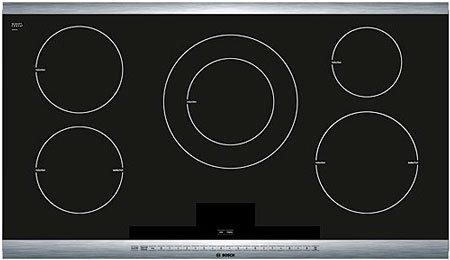 Bosch NIT8665UC 36ö Black with Stainless Steel Trim Induction Cooktop with SteelTouch Control