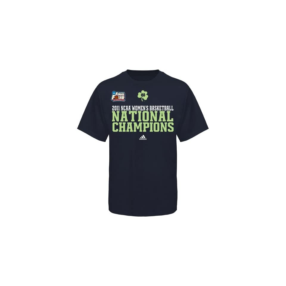 NCAA adidas Notre Dame Fighting Irish 2011 NCAA Womens Basketball National Champions Sideline Starter T shirt   Navy Blue