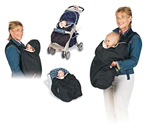 Jolly Jumper Snuggle Cover for Soft Baby Carriers - Black