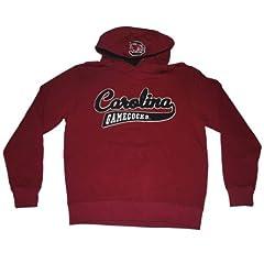 South Carolina Gamecocks Colosseum Maroon Big Black Logo Hoodie Sweatshirt (L) by Colosseum