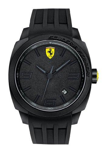 Ferrari 830112 - Reloj de pulsera hombre, silicona, color negro