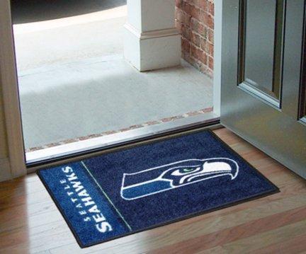 FANMATS NFL Seattle Seahawks Nylon Face Starter Rug