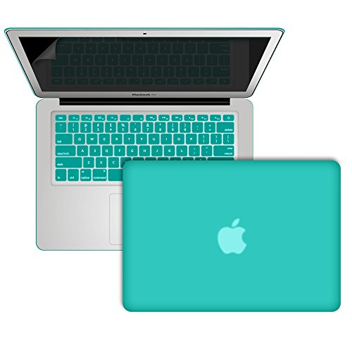 Learn More About Macbook Air 13 Case, SlickBlue Rubberized Hard Case Keyboard Cover & Screen Guard f...