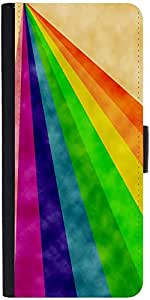 Snoogg Rainbow Power 2377 Designer Protective Flip Case Cover For Samsung Gal...