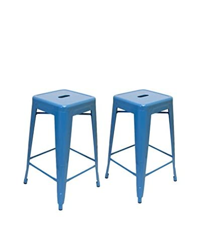 Aeon Set Of 2 Galaxy Counter Stools, Blue