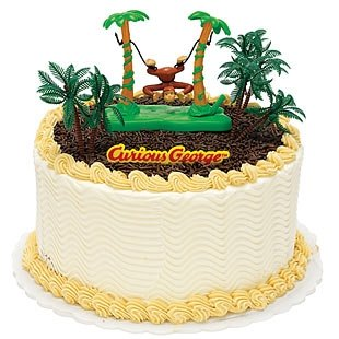 Curious George - Party Supplies - Cake Decoration Kit
