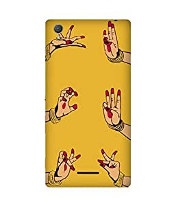 Indian Dance Hand-2 Sony Xperia T3 Printed Back Cover