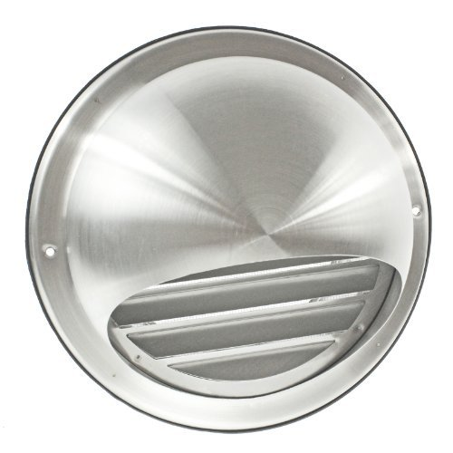 First4Spares Stainless Steel Round Bull Nosed External Extractor Wall Vent Outlet With Insect Mesh Grille 150Mm 6