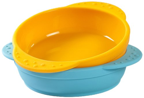 Kinderville Little Bites Bowls (Set of 2, Blue / Orange)