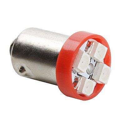 Component Leds - Ba9S 3528 Smd 4-Led Red Light Bulb For Car (Dc 12V, Set Of 4 Pcs)