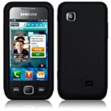 Samsung Wave525 Soft Silicone Skin / Cover / Case / Shell / Gel Case - Black