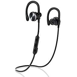 Bluetooth Headphones COULAX Wireless Earphones Over-Ear Sweatproof Headset with Mic Stereo Running Earbuds (Bluetooth 4.1, aptX, CVC 6.0 Noise Cancelling, 8 Hours Play Time)