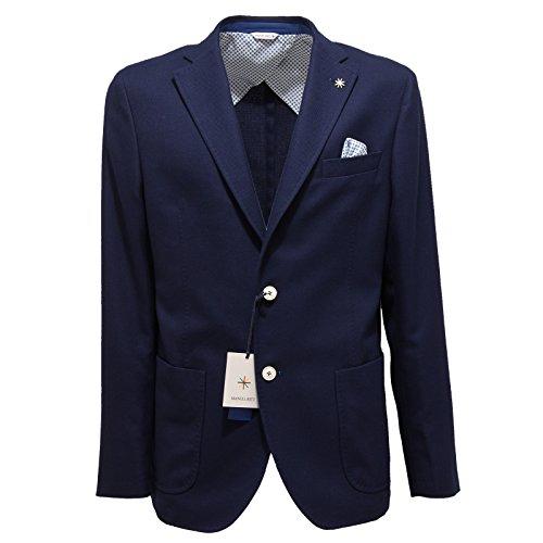 2329Q giacca uomo MANUEL RITZ blu jacket men [54]