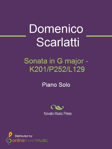 Sonata in G major - K201/P252/L12