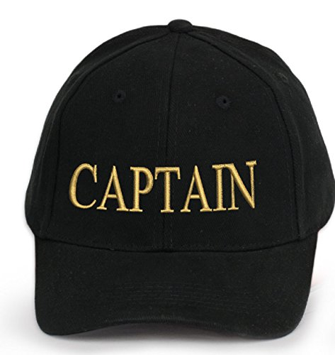 100-Cotton-Ancient-Mariner-Captain-Cabin-Boy-Crew-First-Mate-Yachting-Baseball-Cap-Inscription-Lettering-Black-Gold