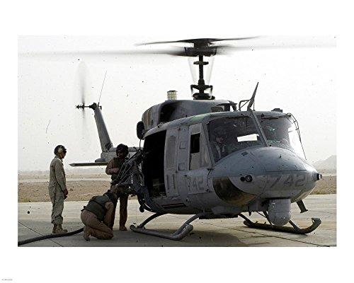 US Marine Corps UH-1N Huey helicopter Art Print