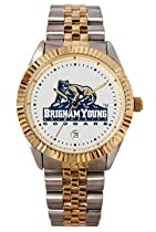 Brigham Young University BYU Cougars Mens Executive Stainless Steel Watch