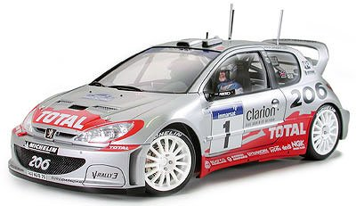 #24255 Tamiya Peugeot 206 WRC Version 2002 1/24 Plastic Model Kit,Needs Assembly