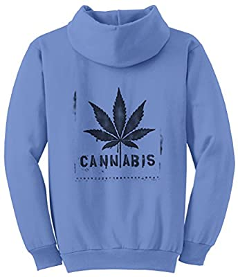 TshirtsXL Men's Cannabis Graphic Pull Over Hoodie (Comes in Big Sizes)