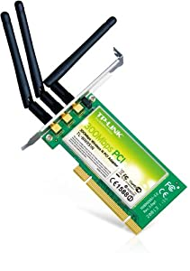 TP-LINK TL-WN951N Wireless N300 Advanced PCI Adapter, 2.4GHz 300Mbps, Include Low-profile Bracket