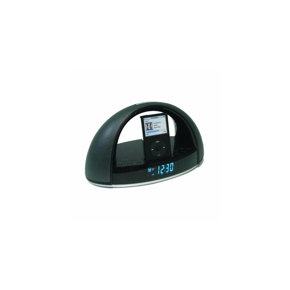 iMode Alarm Clock Radio iPod Docking Station (Black)