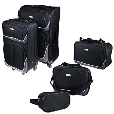 Protocol 5 Pieces Luggage Set in Black from Protocol