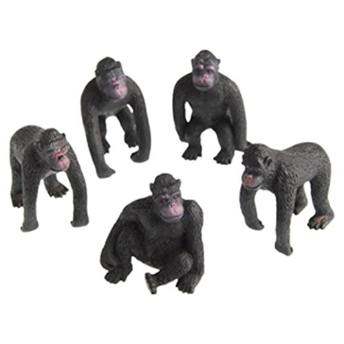 Lot Of 12 Assorted Gorilla Design Toy Figures