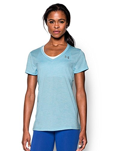 Under Armour Women's Tech Twist V-Neck, Sky Blue (914), Small