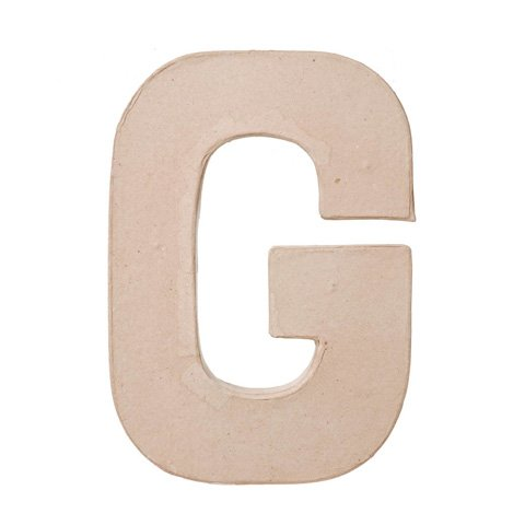 "Ready To Decorate Paper Mache Capital Letter ""G"" For Crafting, Creating And Projects"