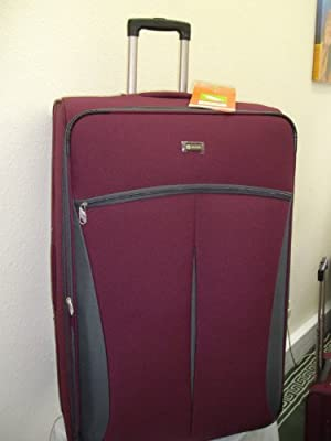 "4 PCS LUGGAGE SET SIZE:20"",24"",28""32"" colour dark red by DECENT INTERNATIONAL LTD"