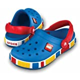 Crocs Crocband Lego Backstrap Clog (Toddler/Little Kid),Sea Blue/Red,6-7 M US Toddler